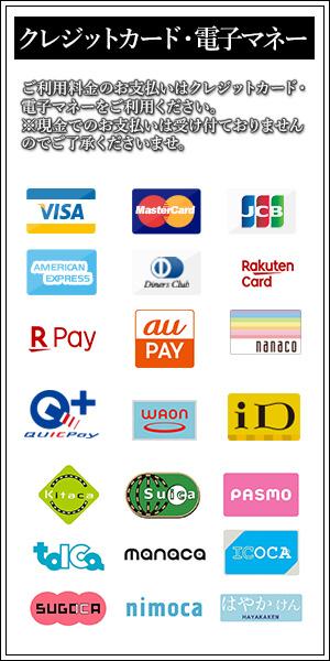 クレジットカードのみご利用可能です。